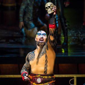 Escena de Ka en Cirque du Solei en Las Vegas.