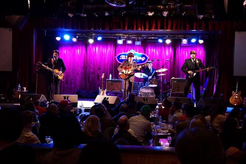Nueva York de noche en el B.B. Kings Blues Club & Grill.