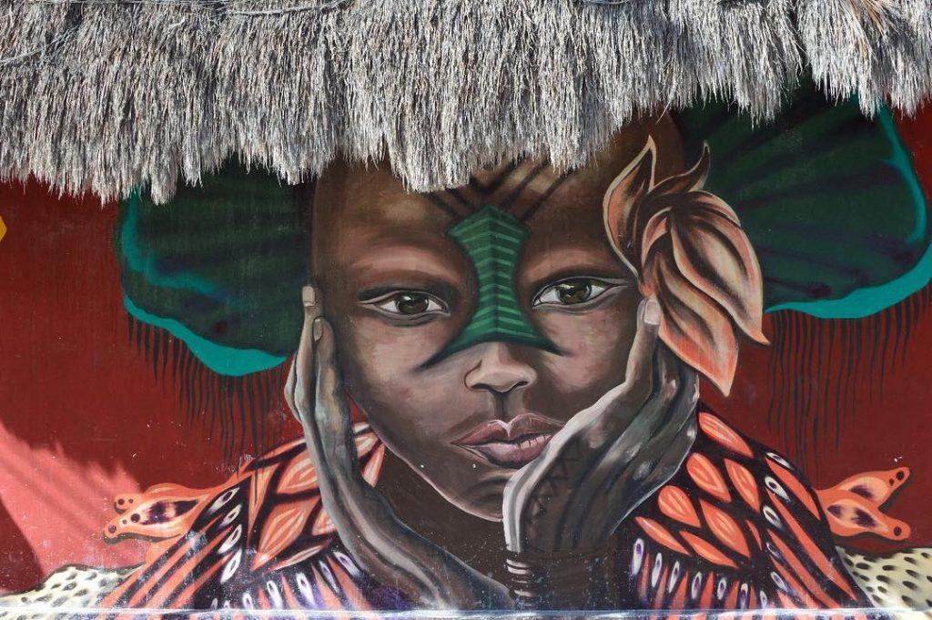 Arte en las paredes de Holbox