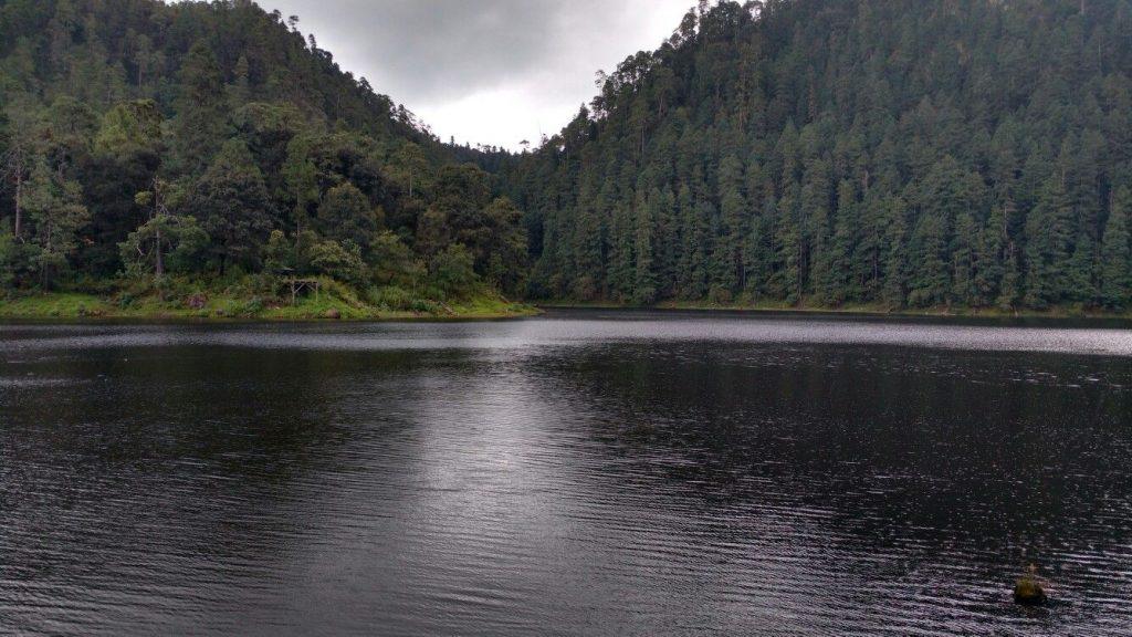 Una de las lagunas de Zempoala