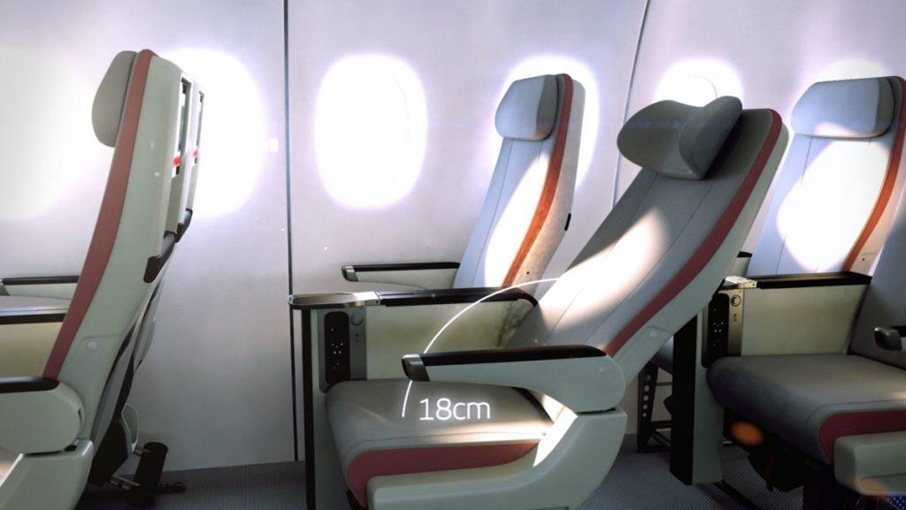 Elegir asientos de avión por comodidad