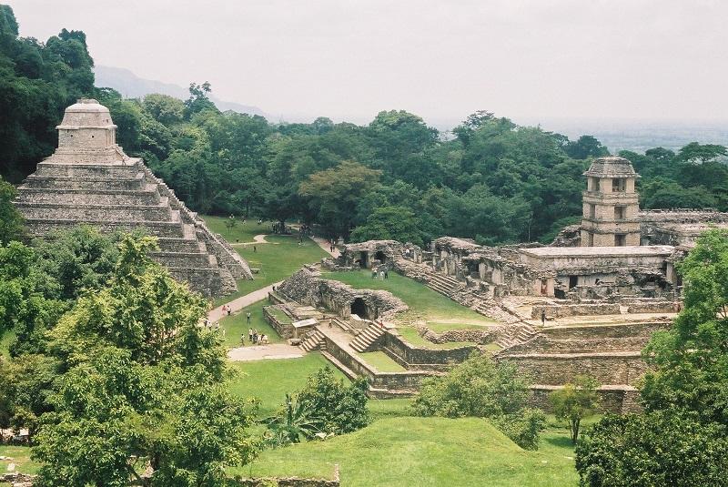 Equinoccio de primavera en Palenque, Chiapas.