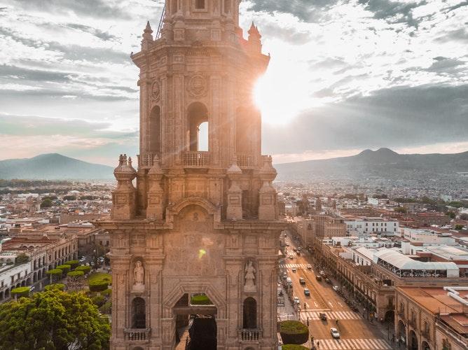 Vista desde la Catedral de Morelia