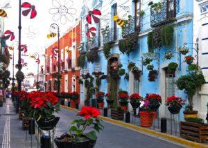 Avenida Hidalgo en Atlixco.