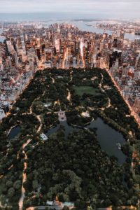 La inmensidad del Central Park en Nueva York.