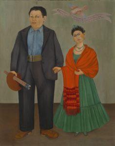 Foto de la pintura Frieda y Diego Rivera.