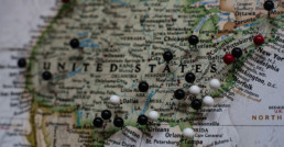 Mapa de lugares turísticos de Estados Unidos.