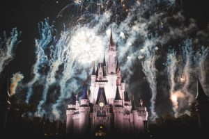 Show de fuegos artificiales en Walt Disney World Resort.