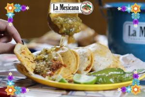 Tacos de la Mexicana.